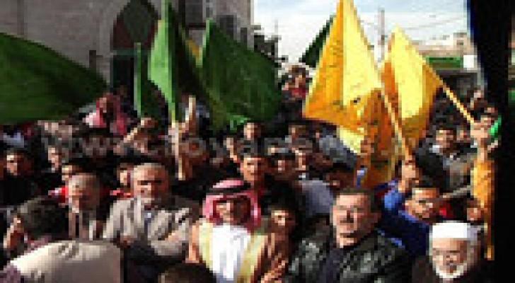 وقفة تضامنية مع المرابطين في المسجد الاقصى في عمان ..صور