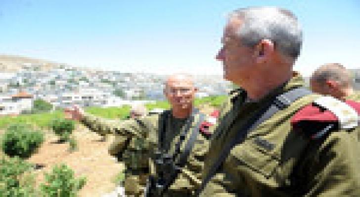 القناة 10 تكشف:قائد الجيش الإسرائيلي زار أجهزة أمن السلطة