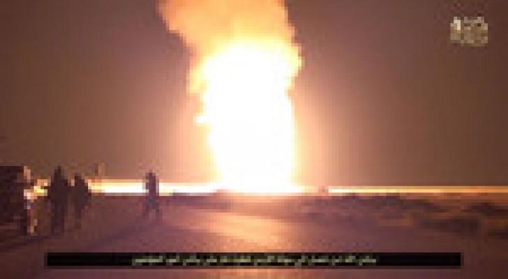 """""""ولاية سيناء"""": لن تصل قطرة غاز للأردن.. صور"""