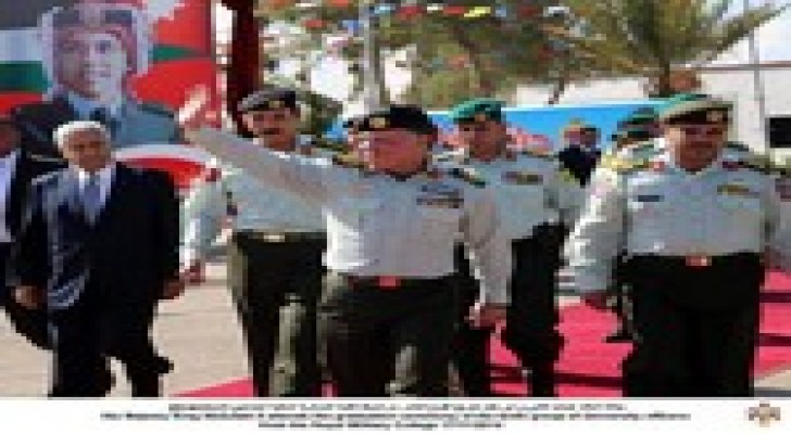 الملك  يرعى حفل تخريج الفوج العاشر من ضباط الكلية العسكرية الملكية