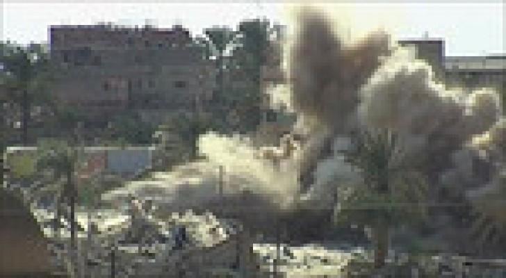 15 قتيلا بقصف لطائرة بدون طيار على رفح المصرية