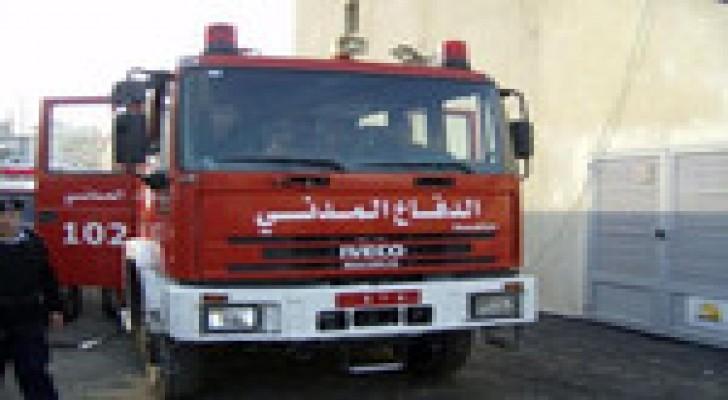 إصابة 3 أشخاص إثر حريق منزل في عجلون