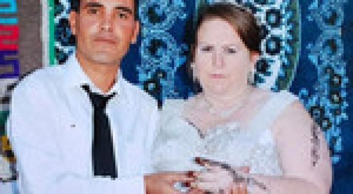 بالصور.. شاب تونسي يتزوج جدة بريطانية لها 10 أحفاد