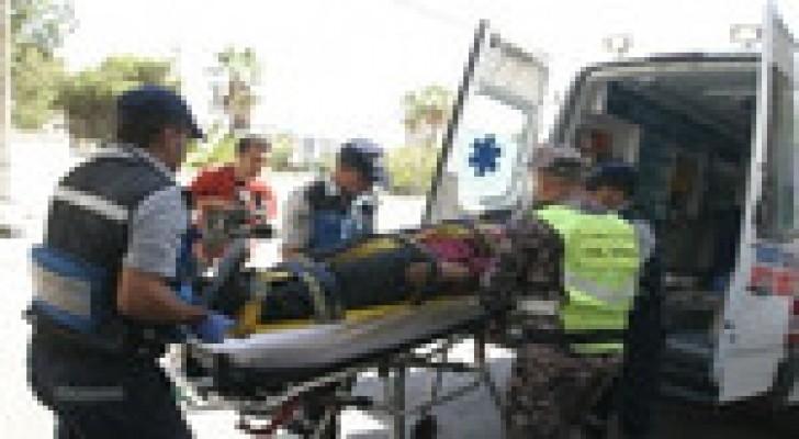 (3) إصابات اثر حادث تدهور في محافظة البلقاء