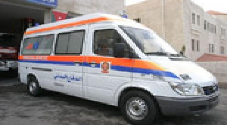 إصابة (5) أشخاص اثر حادث تصادم في محافظة جرش