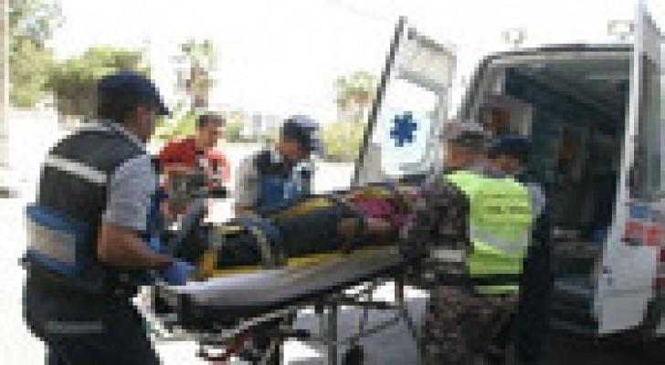 إصابة (8) أشخاص اثر حادثي تصادم في محافظة العقبة