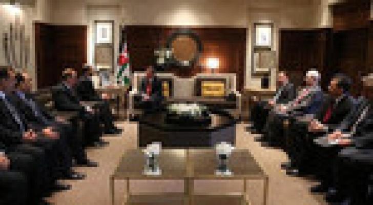 الملك يستقبل رئيس مجلس النواب العراقي