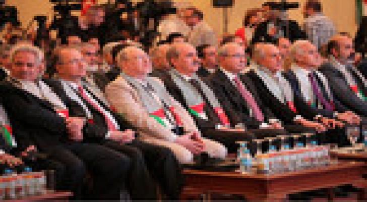 انطلاق مؤتمر الاعمال الفلسطيني بمشاركة اردنية