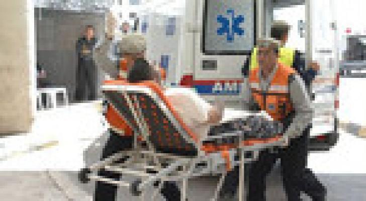إصابة (4) أشخاص اثر حادث تصادم في محافظة الطفيلة