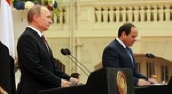 ما جرى بين بوتين والسيسي