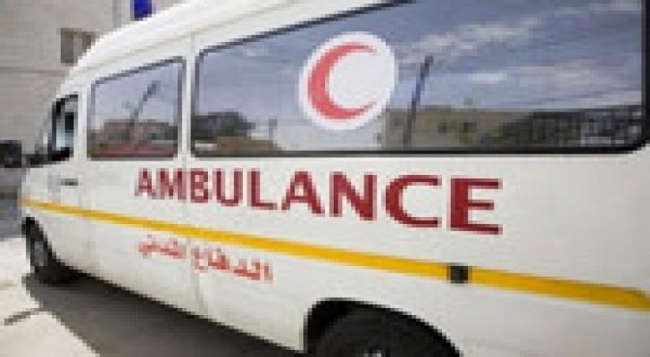 أجراء عملية ولادة داخل سيارة إسعاف الدفاع المدني في عجلون