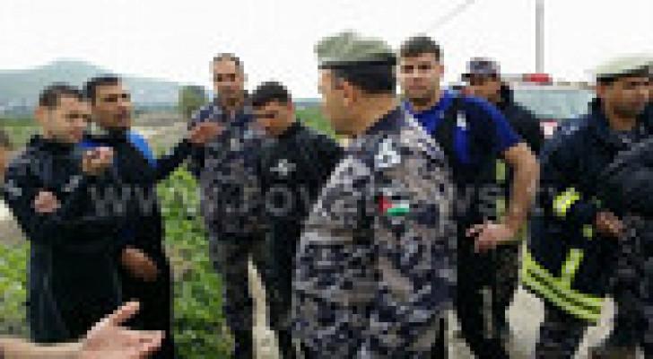 5 وفيات من عائلة واحدة غرقا في قناة الملك عبدالله..صور