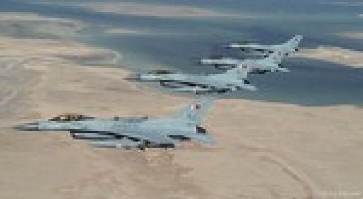 طائرات سلاح الجو البحريني تصل الى الاردن