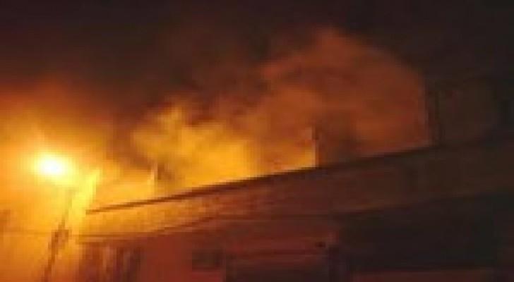 إصابة (4) أشخاص اثر حريق منزل في الزرقاء