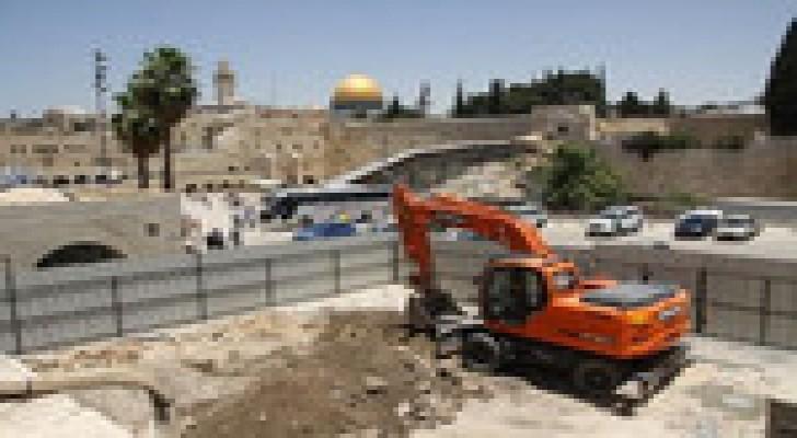 الاحتلال يجري حفريات جديدة بالقرب من المسجد الأقصى