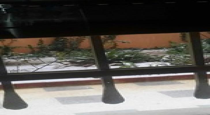 بالصور: تساقط كثيف للثلوج في العاصمة عمان
