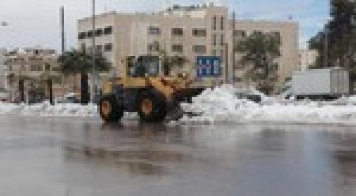 الأمانة تجهز 300 آلية للعمل على فتح الطرق خلال العاصفة الثلجية