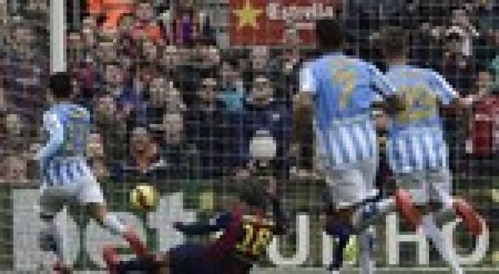 ملقة يوقع برشلونة و يمنعه من إعتلاء الصدارة