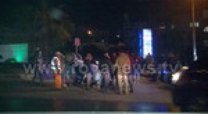 إصابة في حادث تدهور مركبة في العبدلي.. صور