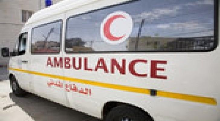 إصابة 3 أشخاص اثر حادث تصادم في الكرك