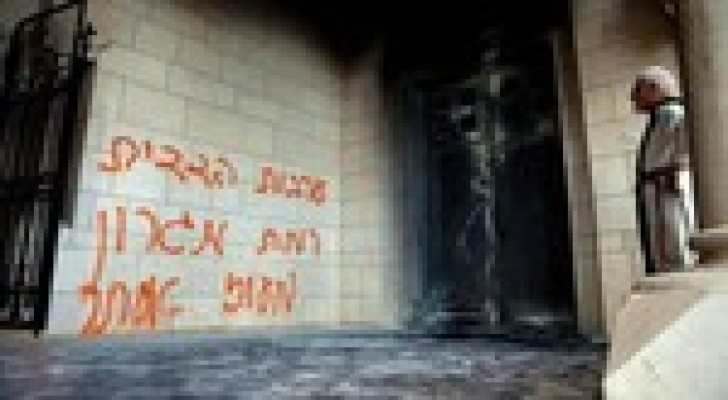 إحراق كنيسة في القدس المحتلة على يد مستوطنين