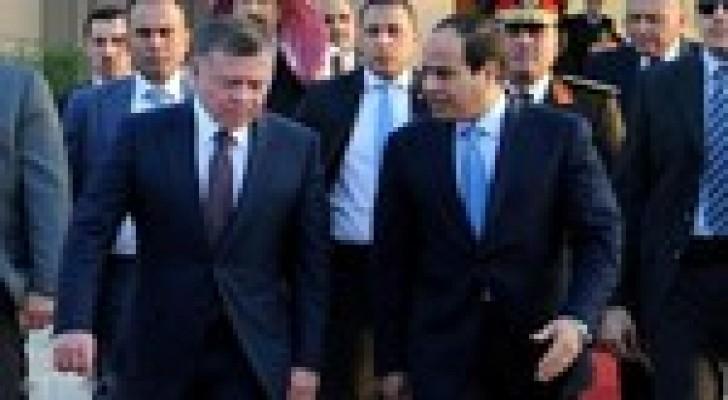 السيسي يستقبل الملك في العاصمة المصرية القاهرة