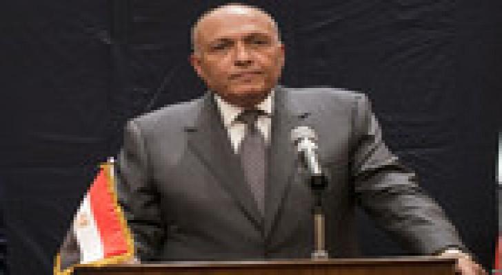 """وزير خارجية مصر يستنكر استمرار سياسة """"الاستيطان"""" الإسرائيلي"""