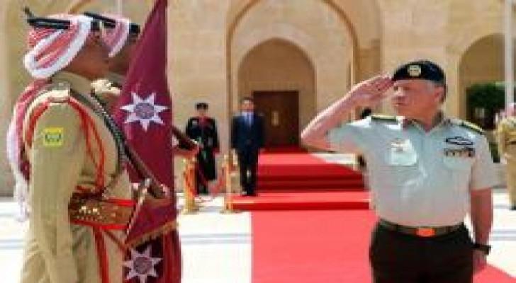 الملك يرعى احتفال القوات المسلحة - الجيش العربي