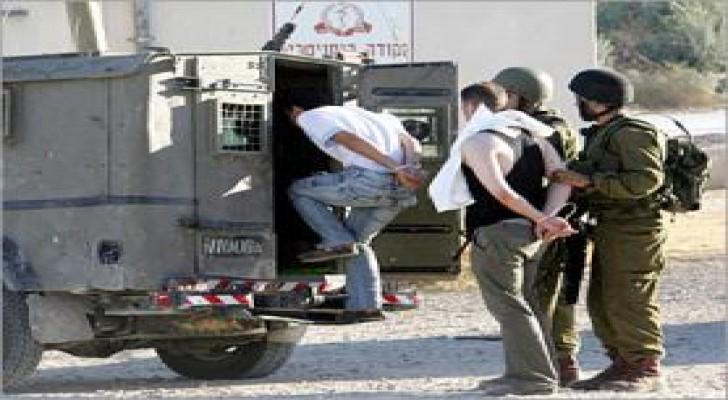 الاحتلال الاسرائيلي يعتقل 9 فلسطينيين في الضفة الغربية