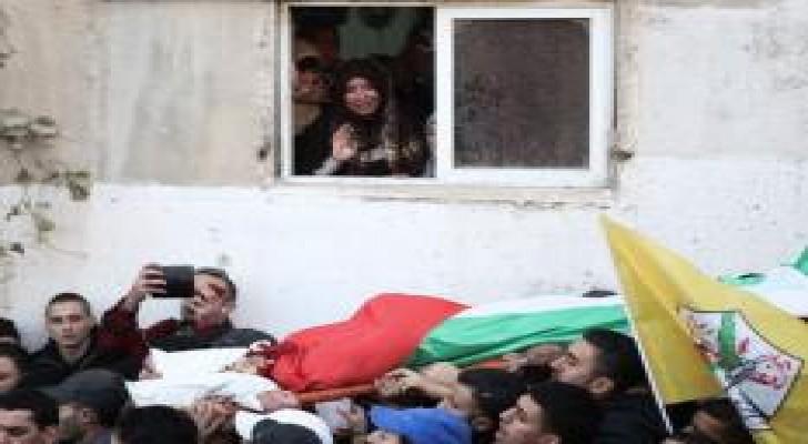 تشييع فلسطيني في القدس قُتل برصاص الاحتلال الإسرائيلي