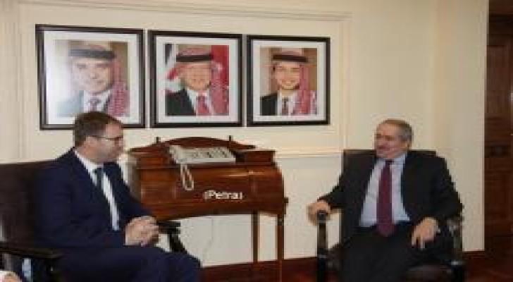 جودة يلتقي وزير الدولة البريطاني لشؤون الشرق الاوسط