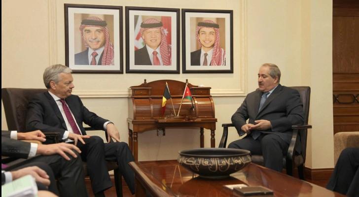 وزير الخارجية ناصر جوده ونظيره البلجيكي ديديه رايندرز