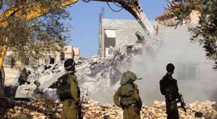 الاحتلال الاسرائيلي يهدم منازل للفلسطينيين - ارشيفية