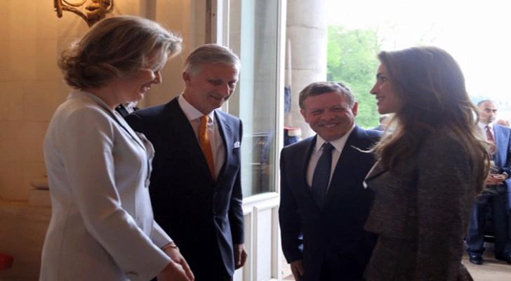 الملك يجري مباحثات مع رئيس وزراء بلجيكا