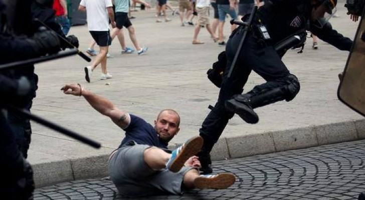 مشجع انجليزي بين الحياة والموت والشرطة تسيطر على أعمال الشغب