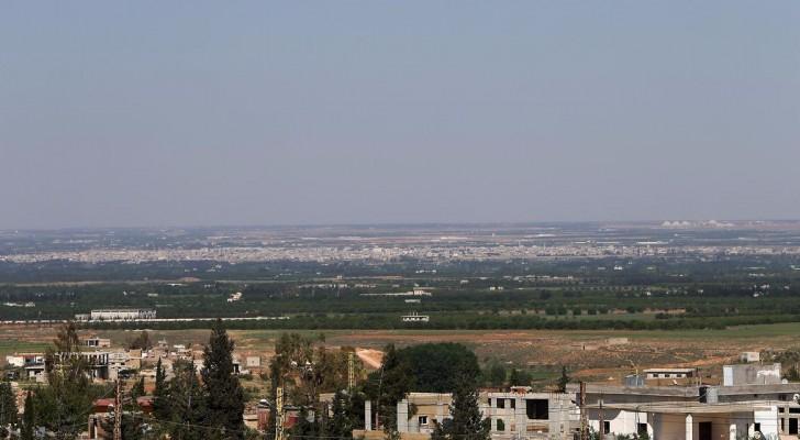 جانب من الحدود اللبنانية السورية