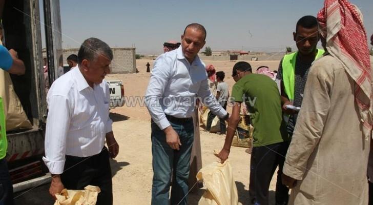 حملة البر والإحسان توزع مساعدات غذائية في لواء الاغوار الجنوبية
