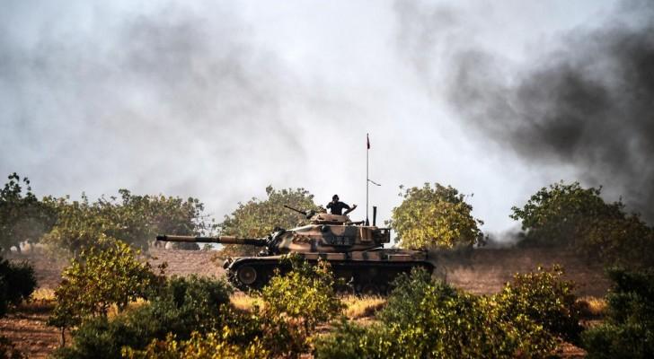 مقتل مدنيين ومسلحين أكراد بقصف تركي شمالي سوريا