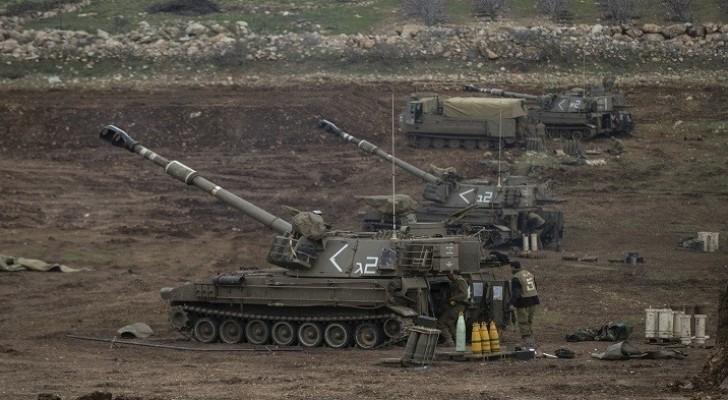 الاحتلال يقصف مواقع للجيش السوري