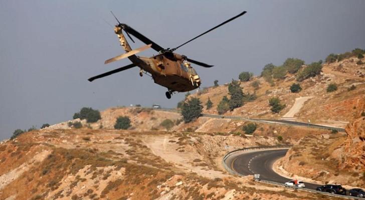 مقاتلة عسكرية للجيش الإسرائيلي فوق هضبة الجولان