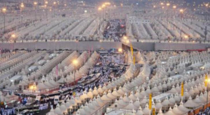 تفويج الحجاج الاردنيين الى عرفات مساء اليوم