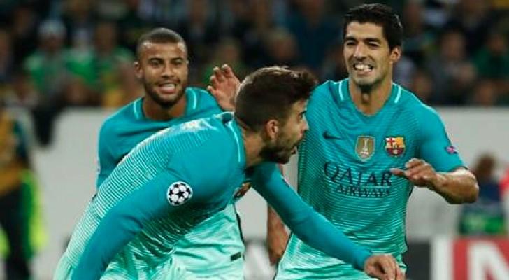 برشلونة يستغل تعثر السيتي و يتصدر المجموعة بفوز صعب على مونشنجلادباخ