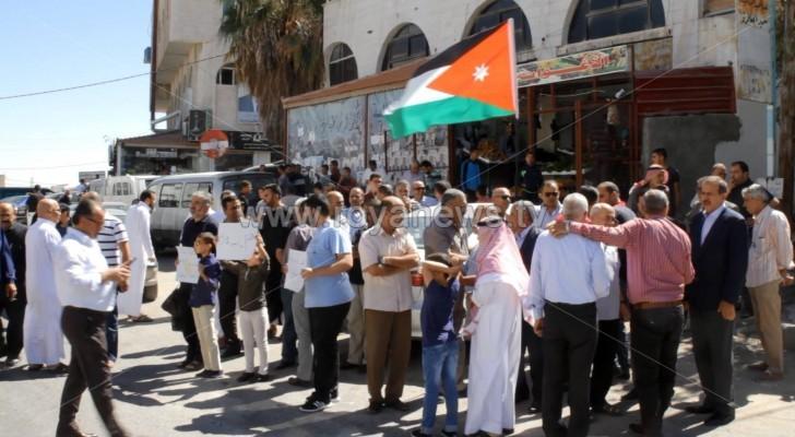 مسيرة الكرك: 'لن نسمح بتسليم الاردن للإحتلال'.. صور