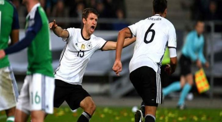 فوز ألمانيا على ايرلندا الشمالية وتعادل تشيكيا وأذربيجان