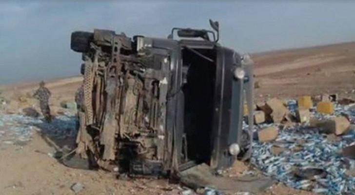 صورة الشاحنة بعد الحادث