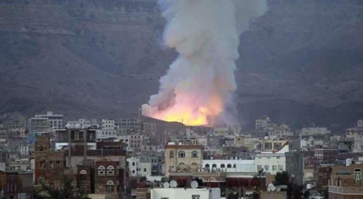 التحالف العربي يقصف موقعاً للمتمردين في صنعاء - أرشيفية