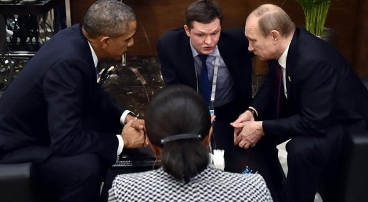"""الرئيس الروسي فلاديمير بوتين و نظيره الأميركي باراك أوباما """"أرشيفية"""""""