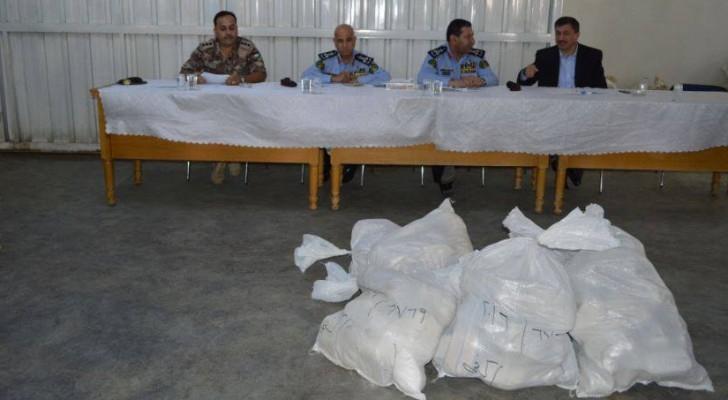 إدارة مكافحة المخدرات في مديرية الأمن العام تتلف كمية من المخدرات