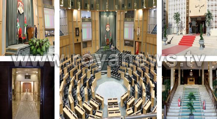 الاستعدادات الأخيرة لخطاب العرش داخل مجلس الأمة