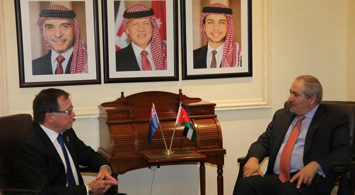 جودة خلال اللقاء مع وزير خارجية نيوزيلندا